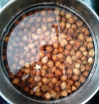 chik pea soaked in water
