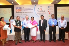 At Nutritional Medicine conference with Dr. Sreekumar, Dr. Ian Brighthope, Ex VC of Mysore University Prof. Dr. Rangapa, Former VC of Mysore University Prof. SN Hegde R
